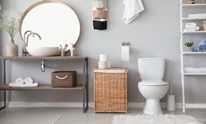 Stylish,Interior,Of,Modern,Bathroom,With,Toilet,Bowl